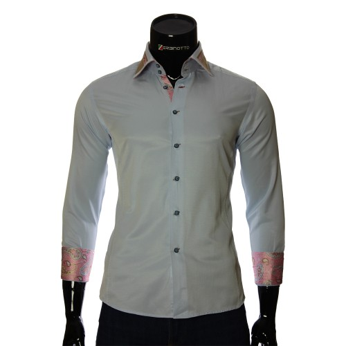 Blue slim fit shirt BEL 1864-29