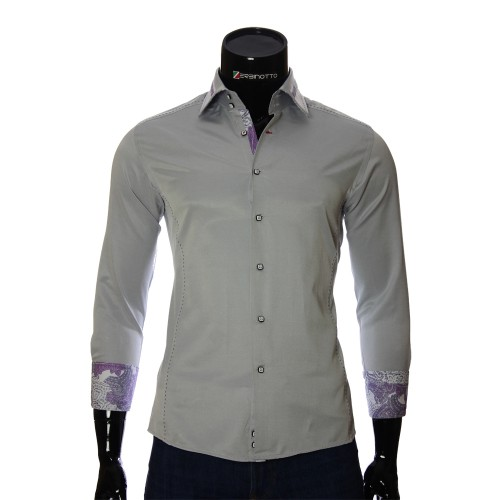 Gray slim fit shirt BEL 1864-31