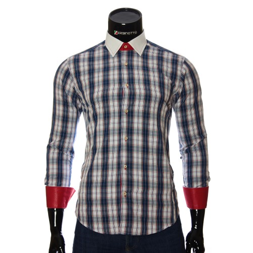 Men`s Slim Fit plaid shirt BEL 1868-1
