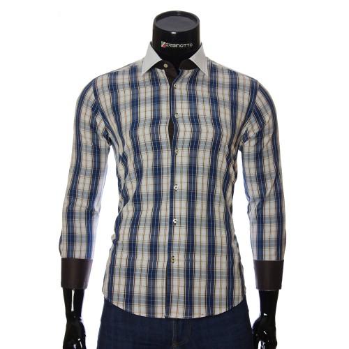 Мужская приталенная рубашка в клетку BEL 1868-2
