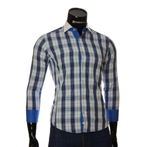 Мужская приталенная рубашка в клетку BEL 1868-3