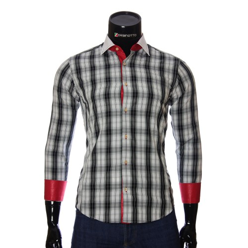 Men`s Slim Fit plaid shirt BEL 1868-4