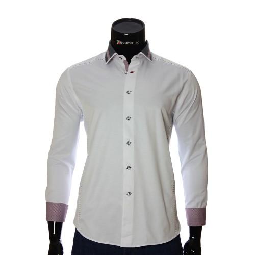 Мужская однотонная приталенная рубашка BEL 1870-1