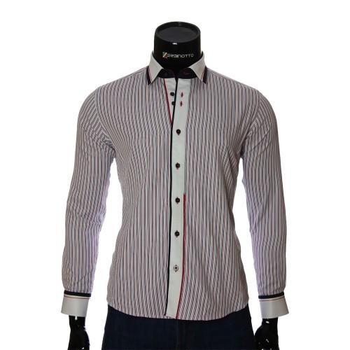 Мужская приталенная рубашка в полоску BEL 1870-4