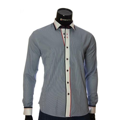 Мужская приталенная рубашка в полоску BEL 1870-6