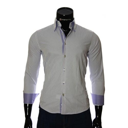 Мужская приталенная рубашка в полоску BEL 1871-5