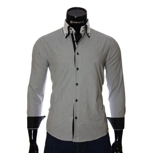 Мужская приталенная рубашка в полоску BEL 1871-7