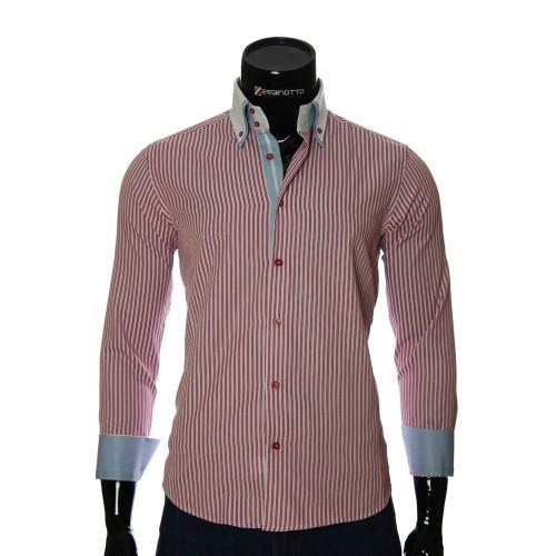 Мужская приталенная рубашка в полоску BEL 1871-8