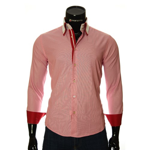 Men`s Slim Fit striped shirt BEL 1871-9