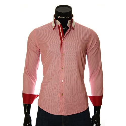 Мужская приталенная рубашка в полоску BEL 1871-9
