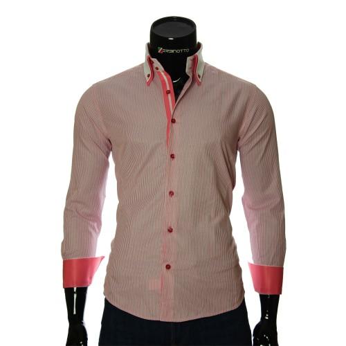Мужская приталенная рубашка в полоску BEL 1871-10