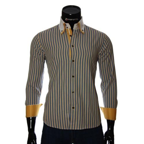 Мужская приталенная рубашка в полоску BEL 1871-16