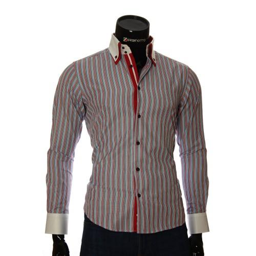 Мужская приталенная рубашка в полоску BEL 1871-20