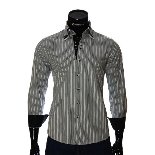 Мужская приталенная рубашка в полоску MM 1877-1