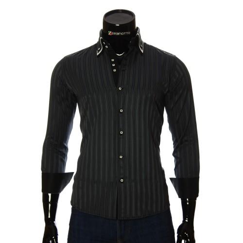 Мужская приталенная рубашка в полоску MM 1877-2