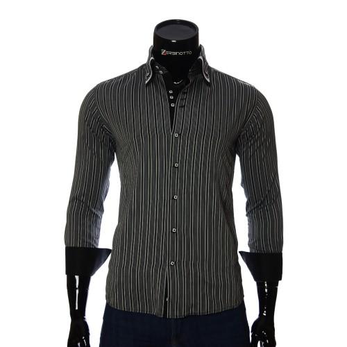 Мужская приталенная рубашка в полоску MM 1877-4