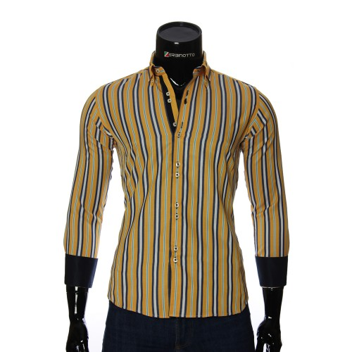 Men`s Slim Fit striped shirt BEL 1878-3
