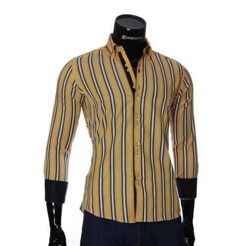 Мужская приталенная рубашка в полоску BEL 1878-3