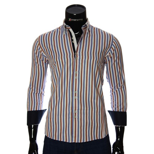 Men`s Slim Fit striped shirt BEL 1878-7
