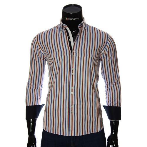 Мужская приталенная рубашка в клетку BEL 1878-7