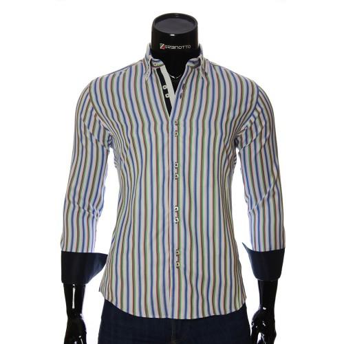 Мужская приталенная рубашка в полоску BEL 1878-8