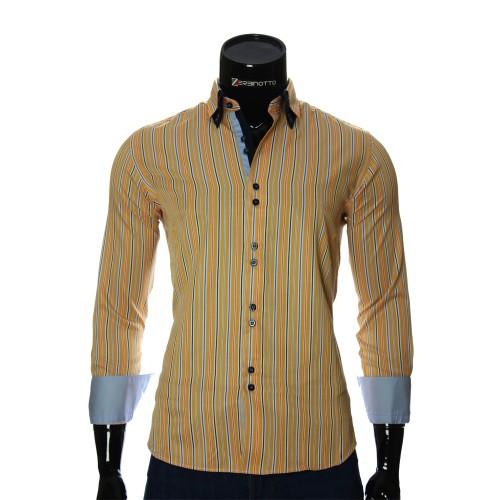 Мужская приталенная рубашка в полоску BEL 1878-12