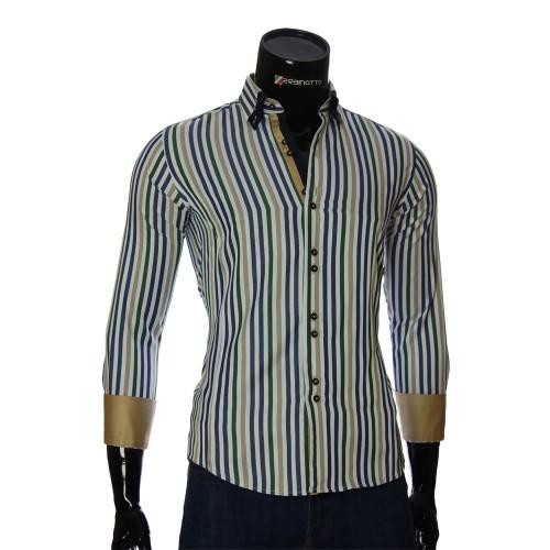 Мужская приталенная рубашка в полоску BEL 1880-4