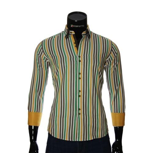 Мужская приталенная рубашка в полоску BEL 1880-6