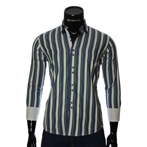 Мужская приталенная рубашка в полоску BEL 1880-7