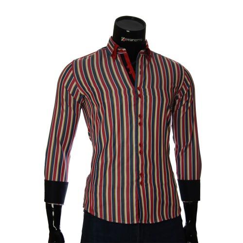 Мужская приталенная рубашка в полоску BEL 1880-8