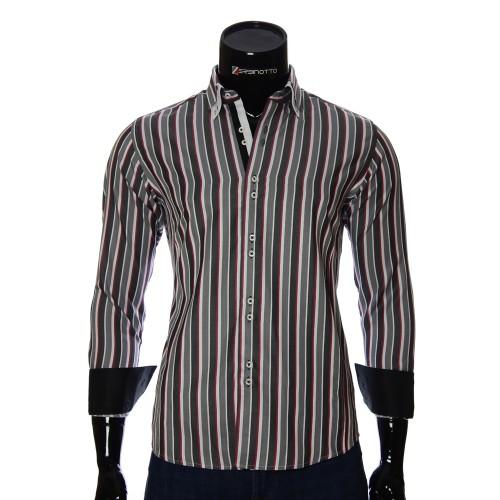 Мужская приталенная рубашка в полоску BEL 1880-10