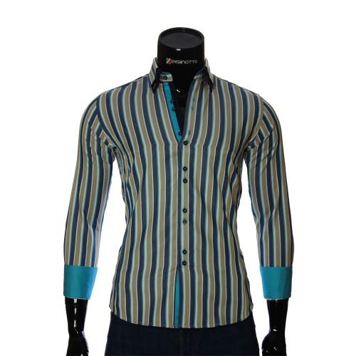 Мужская приталенная рубашка в полоску BEL 1880-11