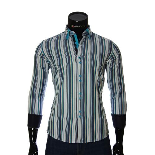 Мужская приталенная рубашка в полоску BEL 1880-13