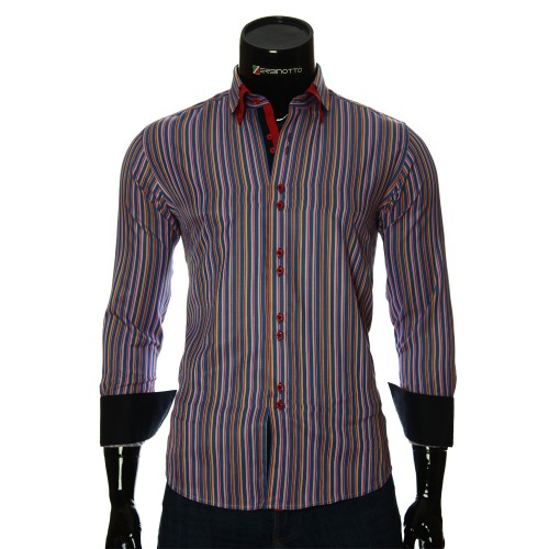 Men`s Slim Fit striped shirt BEL 1880-16