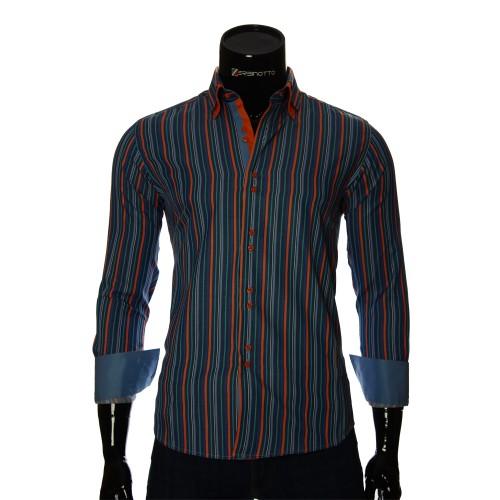 Мужская приталенная рубашка в полоску BEL 1880-18