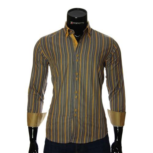 Мужская приталенная рубашка в полоску BEL 1880-20