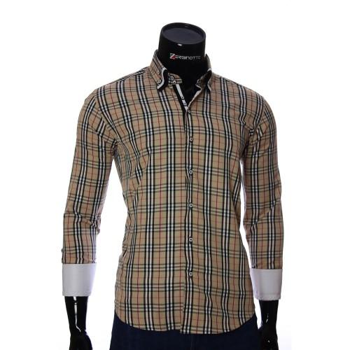 Мужская приталенная рубашка в клетку MM 1883-6