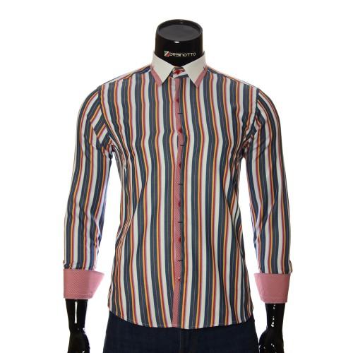 Мужская приталенная рубашка в полоску BEL 1896-12