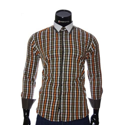 Мужская приталенная рубашка в клетку BEL 1896-25