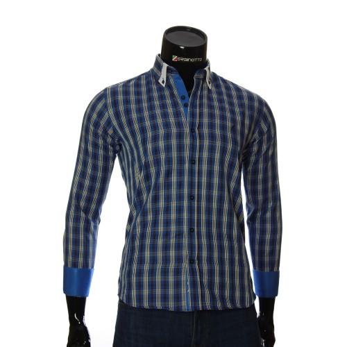 Мужская приталенная рубашка в клетку LG 1909-4