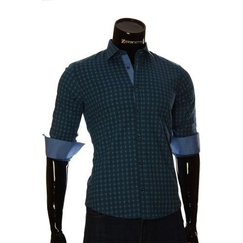 Мужская приталенная рубашка в узор BEL 1916-3