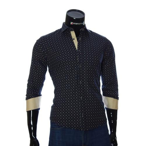 Мужская приталенная рубашка в узор BEL 1916-5