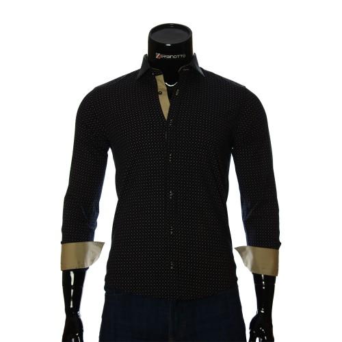Мужская приталенная рубашка в узор BEL 1916-6