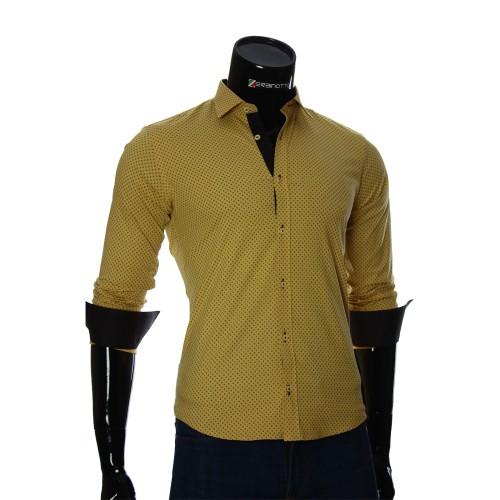 Мужская приталенная рубашка в узор BEL 1916-8