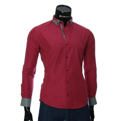 Мужская приталенная рубашка в полоску BEL 1920-6