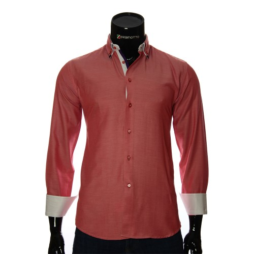 Cotton Poplin Plain Shirt LG 1991-6