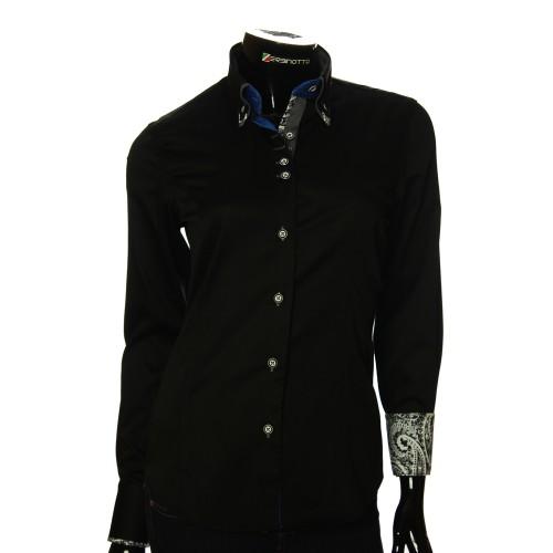 Женская однотонная приталенная рубашка TNL 05-04-001