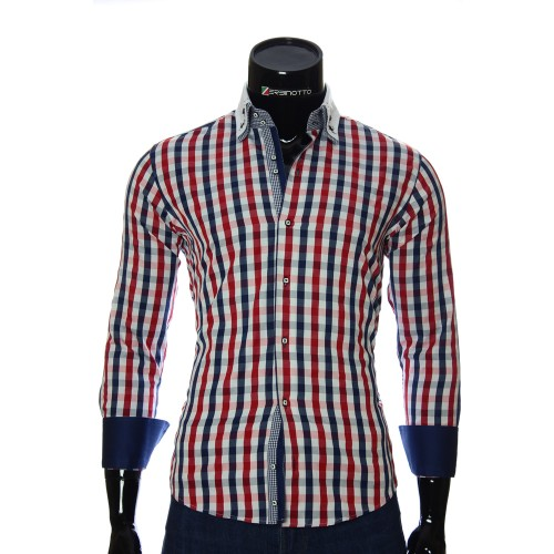 Pure Cotton Checkered Shirt AJB 1945-5
