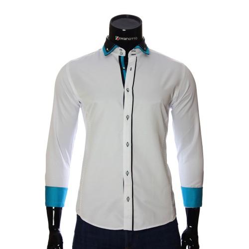 Мужская однотонная приталенная рубашка MM 1917-5