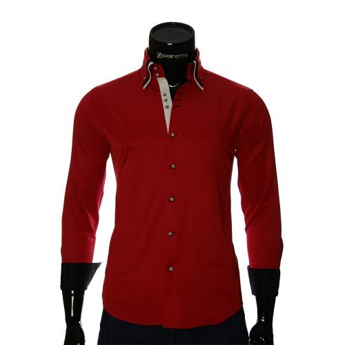 Мужская однотонная приталенная рубашка MM 1960-4